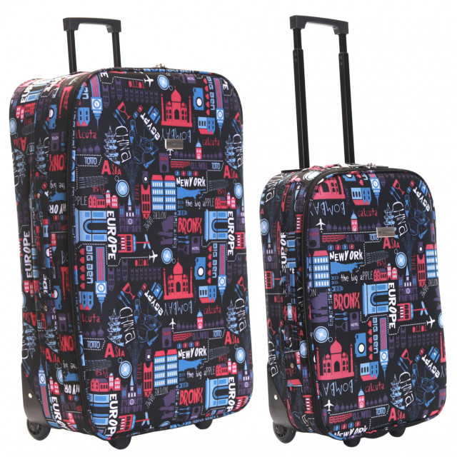 Algarve Set of 2 Lightweight Suitcases