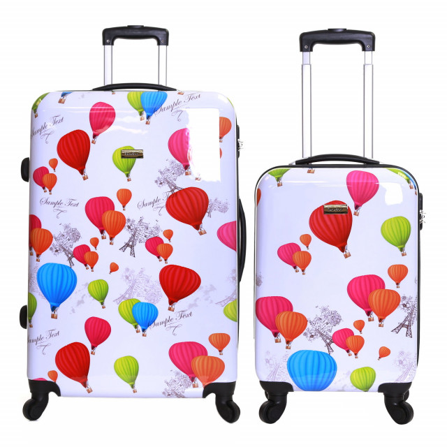 Karabar Dewberry Set of 2 Hard Shell Suitcases, Balloons