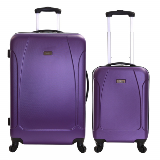 Karabar Evora Set of 2 Hard Suitcases, Aubergine