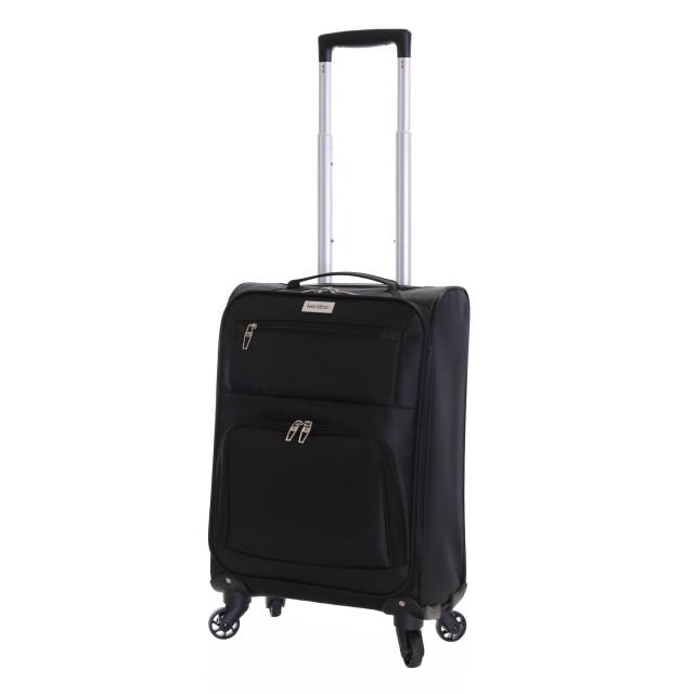 Karabar Lecce 55 cm Lightweight Cabin Suitcase, Black
