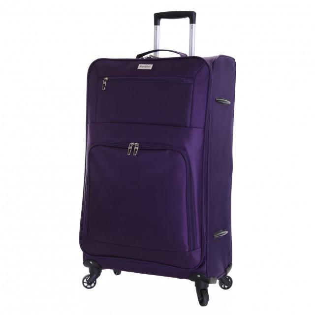 Karabar Lecce 78 cm Lightweight Large Suitcase, Plum