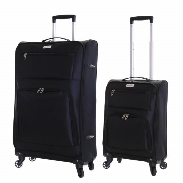 Karabar Lecce Set of 2 Lightweight Suitcases, Black