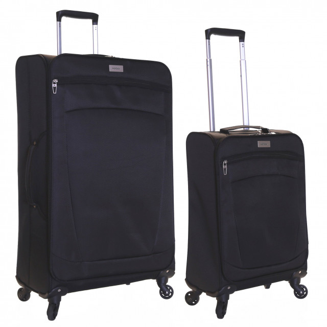 Karabar Marbella Set of 2 Lightweight Suitcases, Black