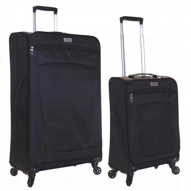 Karabar Marbella Set of 2 Lightweight Suitcases, Black