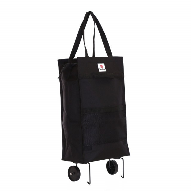 Karabar Monsanto Foldable Shopping Trolley, Black