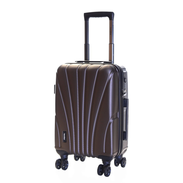 Karabar Seashell Cabin Approved Hard Suitcase, Espresso