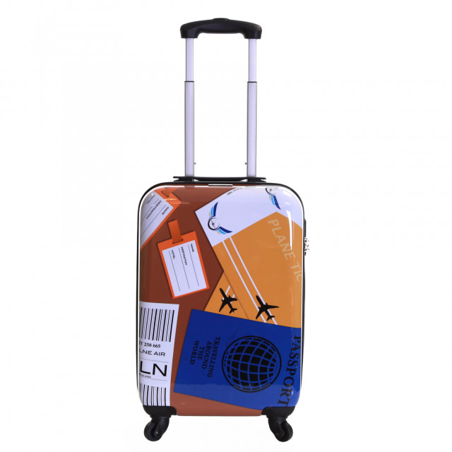Karabar Falla Cabin Approved Hard Suitcase, World Travel