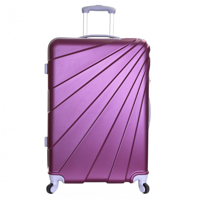 Slimbridge Fusion Large Hard Suitcase, Plum
