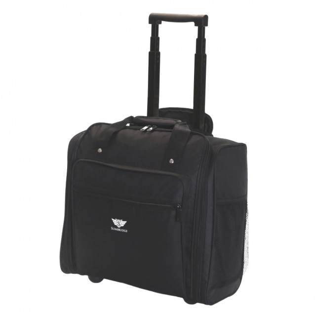 Slimbridge Orlando Cabin Approved Under Seat Trolley Bag, Black