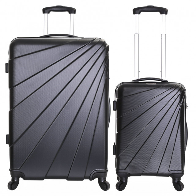 Slimbridge Fusion Set of 2 Hard Suitcases, Black