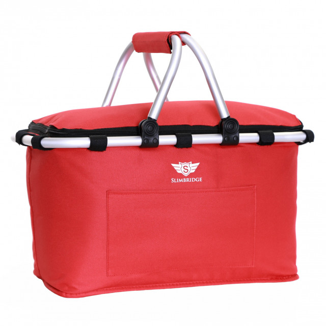 Slimbridge Tenby Family Picnic Basket, Red