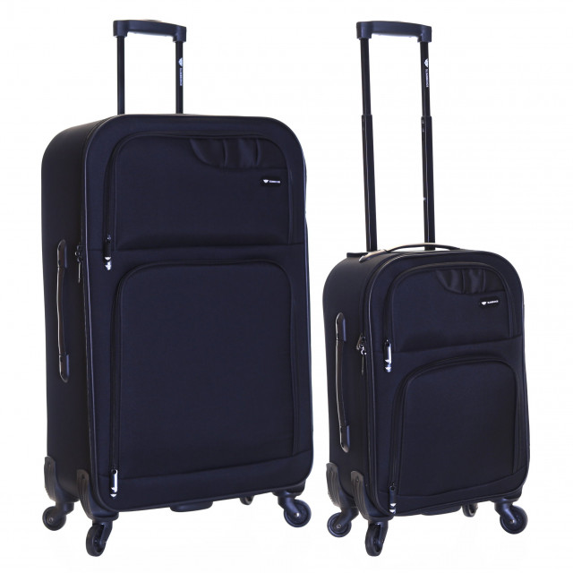 Slimbridge Andalucia Set of 2 Suitcases, Black