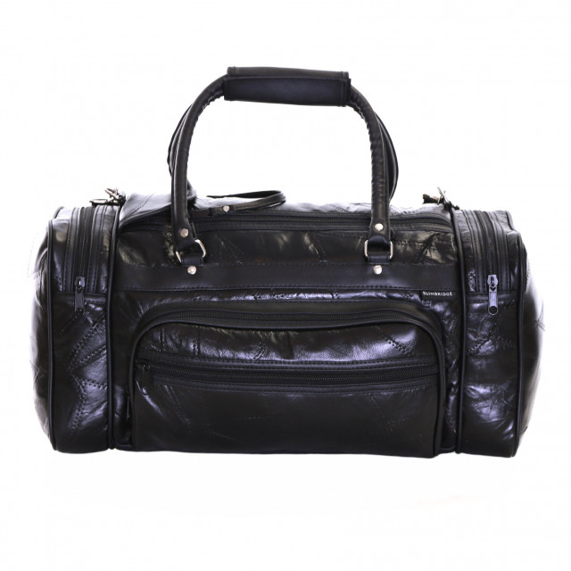 Slimbridge Blumberg Leather Travel Bag, Black