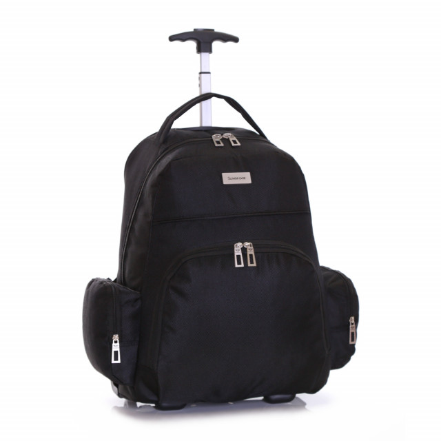 Slimbridge Morley Wheeled Laptop Backpack, Black