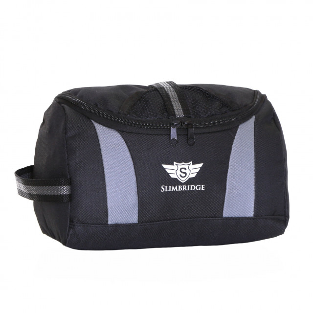 Slimbridge Pillar Hanging Toiletry Bag, Black