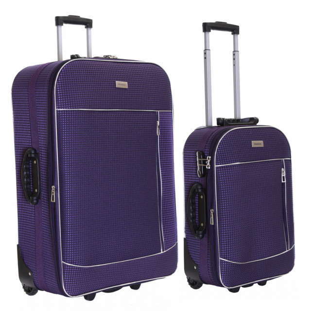Slimbridge Rennes Set of 2 Expandable Suitcases, Plum