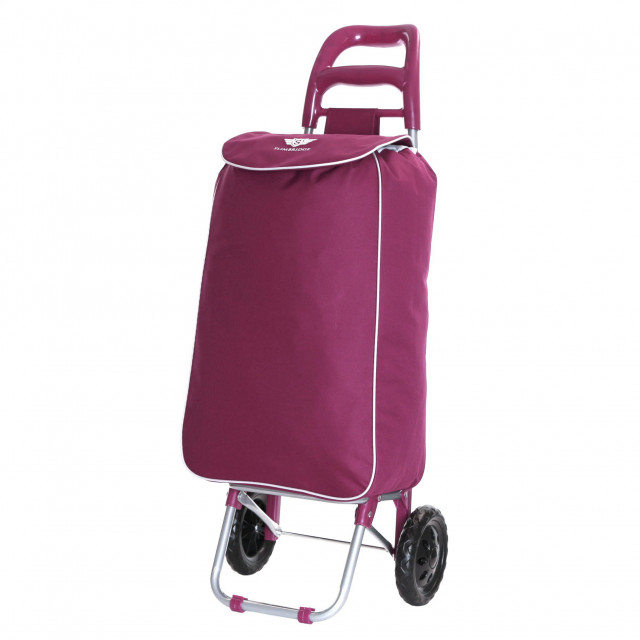 Slimbridge Victoria Shopping Trolley, Plum