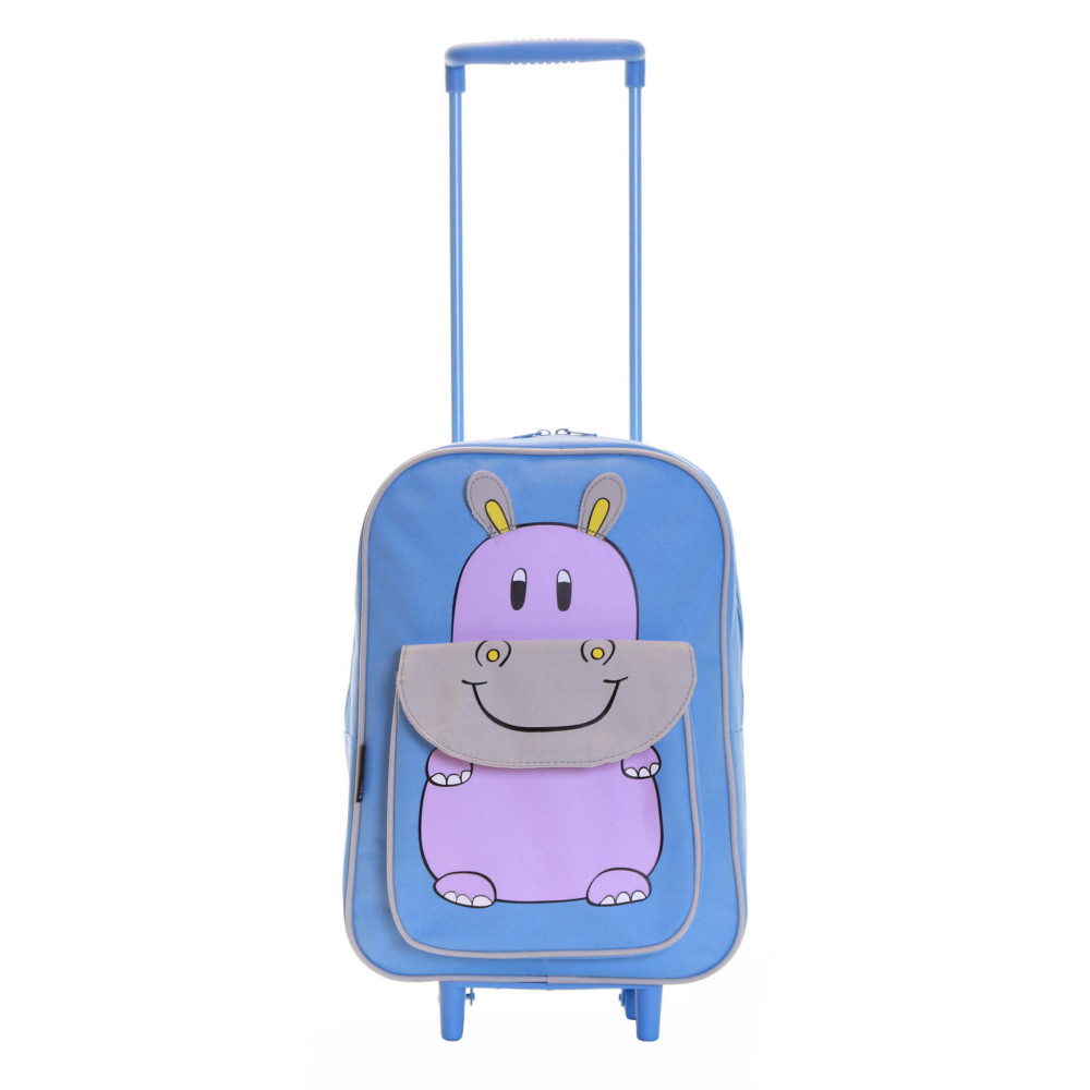 Karabar Wildlife Kids Trolley Luggage Bag, Blue