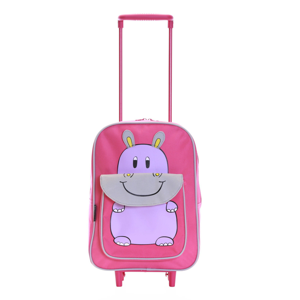 Karabar Wildlife Kids Trolley Luggage Bag, Pink