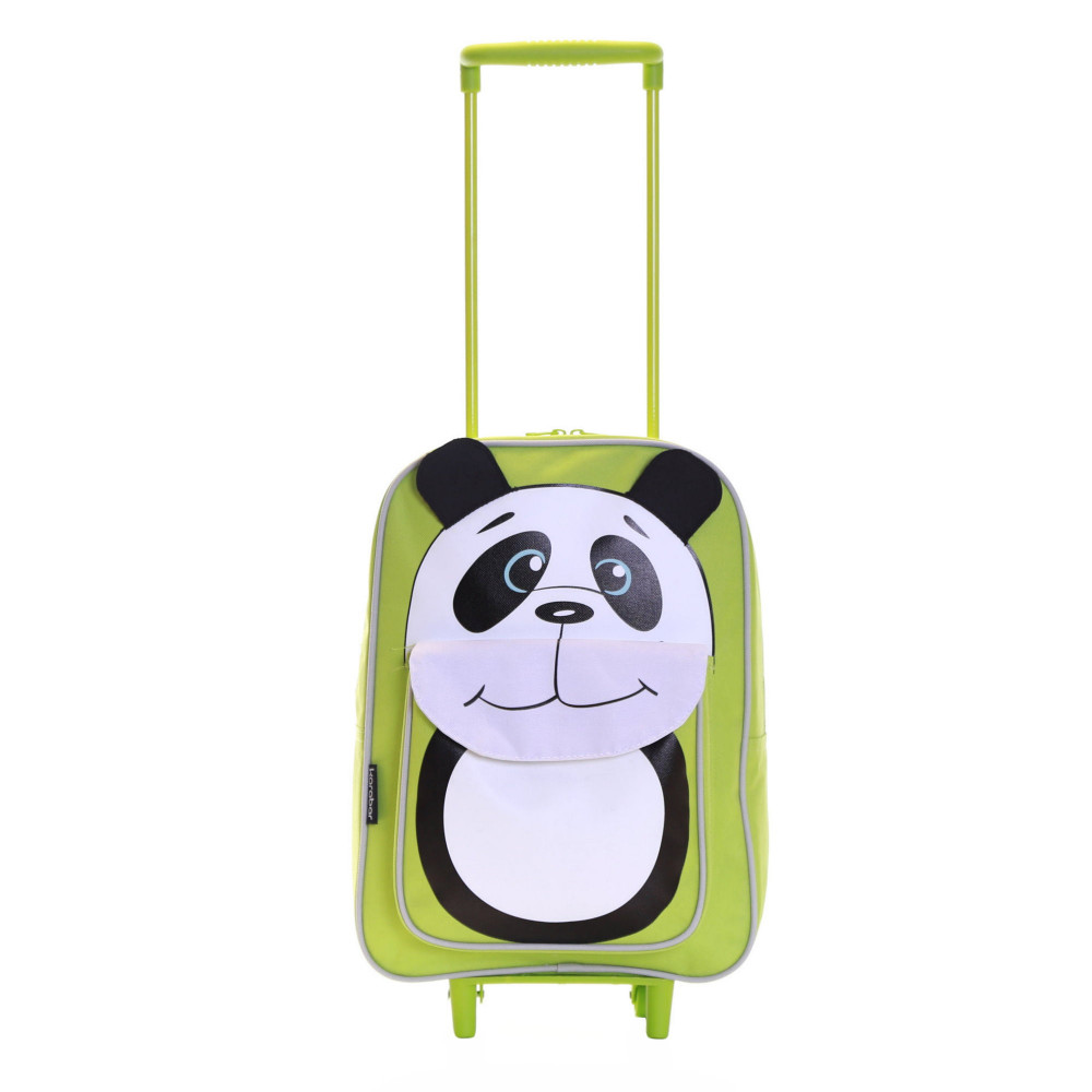 Karabar Wildlife Kids Trolley Luggage Bag, Green