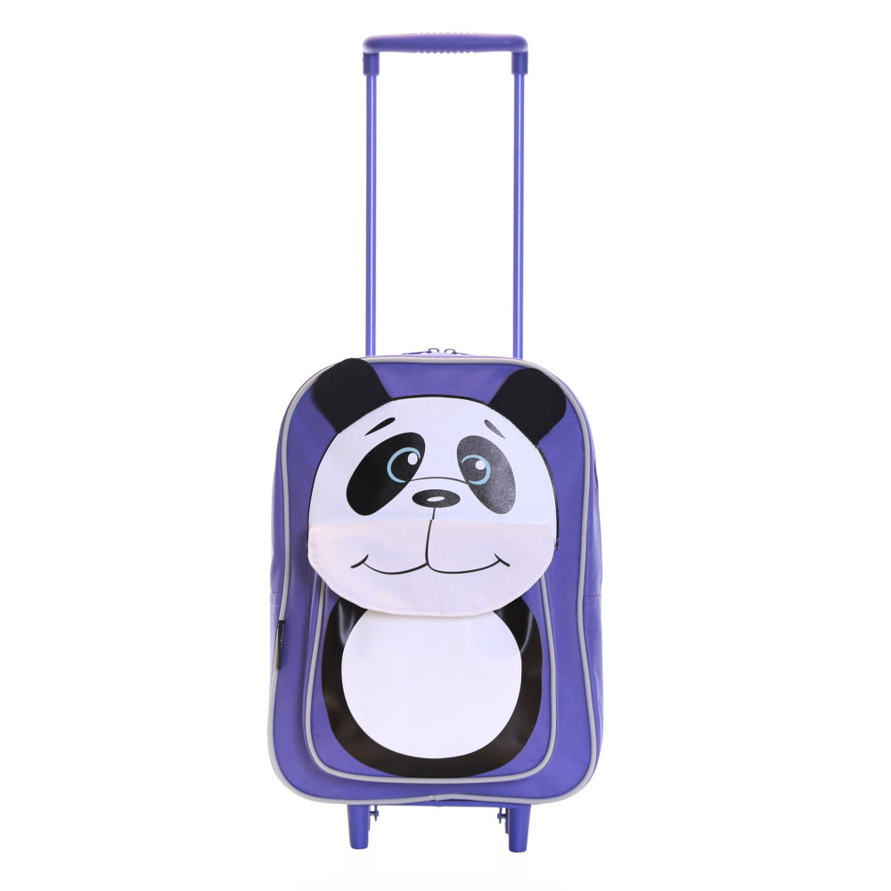 Karabar Wildlife Kids Trolley Luggage Bag, Purple