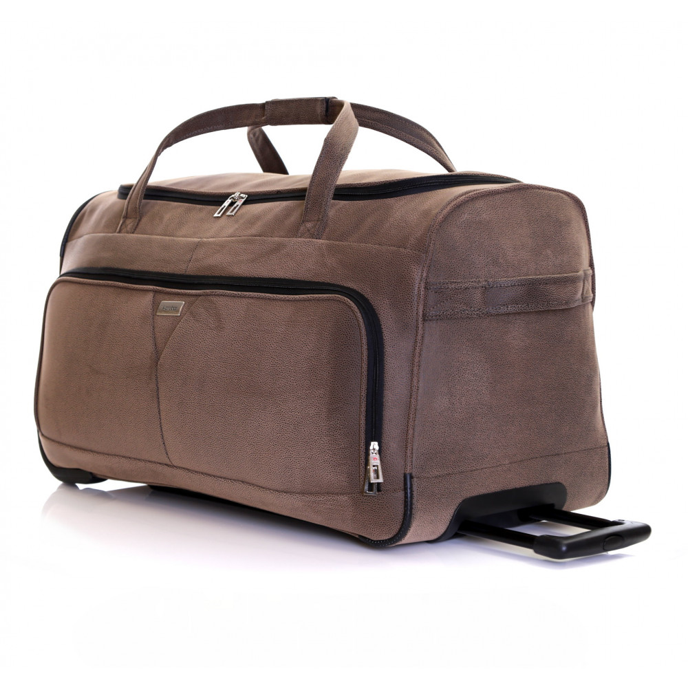 Karabar Anderson 34 Inch Wheeled Bag, Walnut Trolley Handle