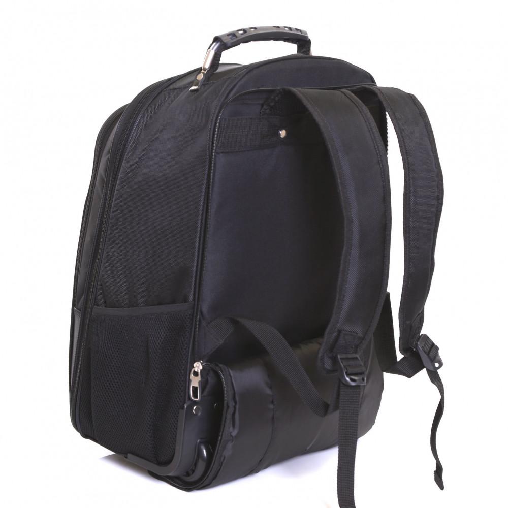 Karabar Aragon Wheeled Laptop Backpack, Black Side