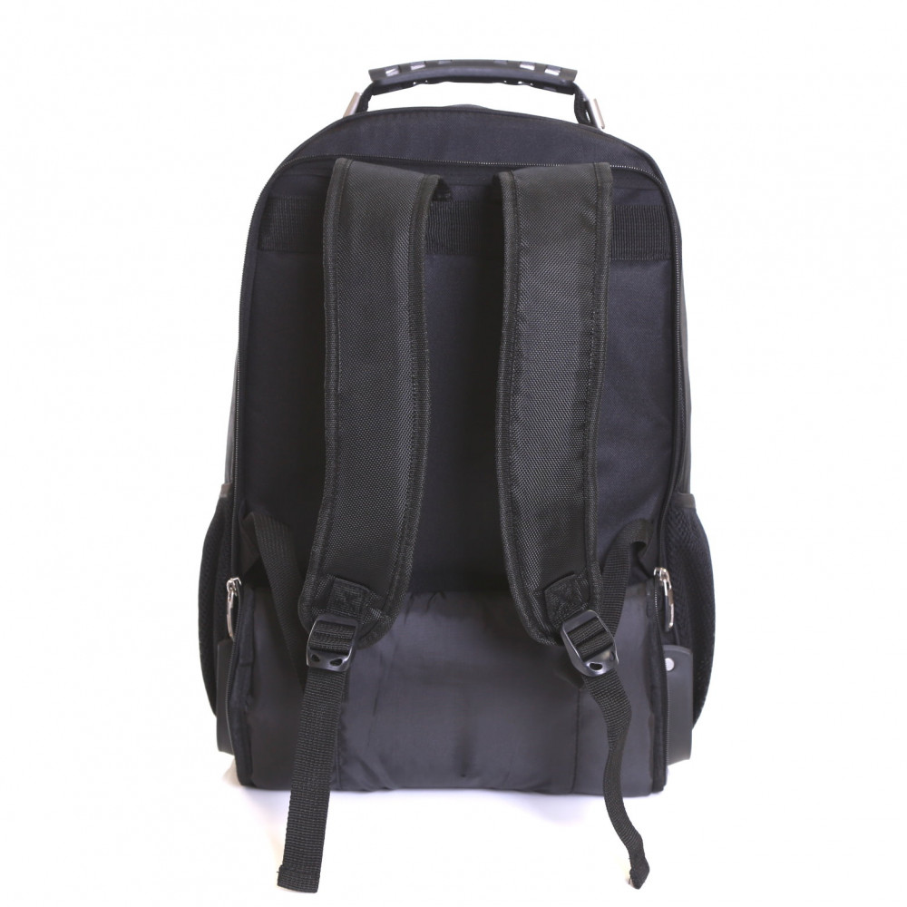 Karabar Aragon Wheeled Laptop Backpack, Black Back