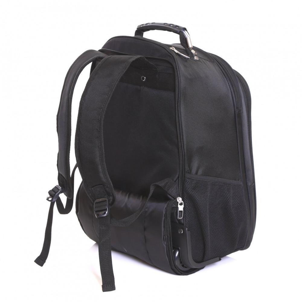 Karabar Aragon Wheeled Laptop Backpack, Black Backstraps
