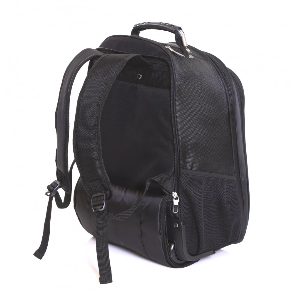 Karabar Aragon Wheeled Laptop Backpack, Black Side