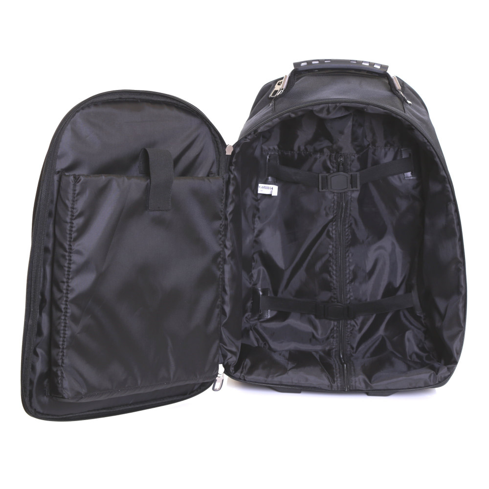 Karabar Aragon Wheeled Laptop Backpack, Black Inside