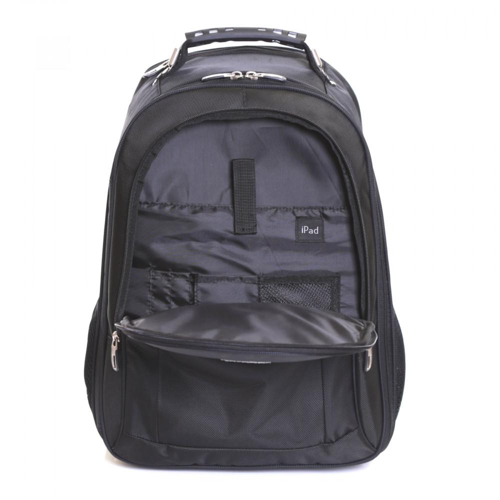 Karabar Aragon Wheeled Laptop Backpack, Black iPad Pocket