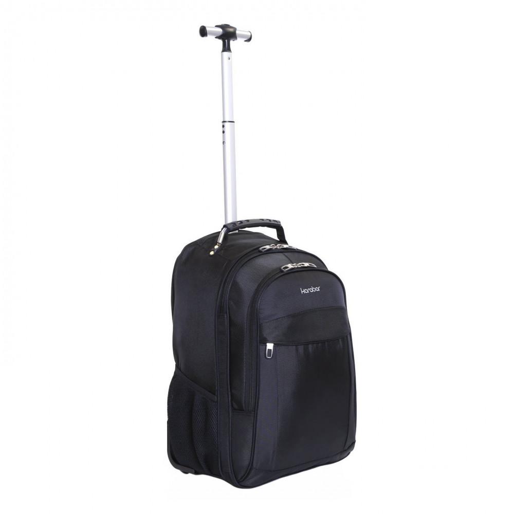 Karabar Aragon Wheeled Laptop Backpack, Black