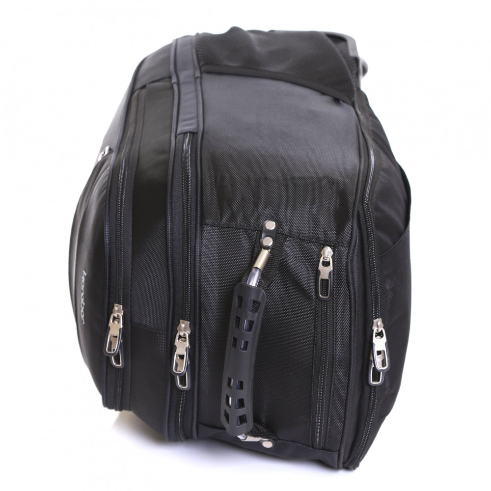 Karabar Aragon Wheeled Laptop Backpack, Black Top Handle