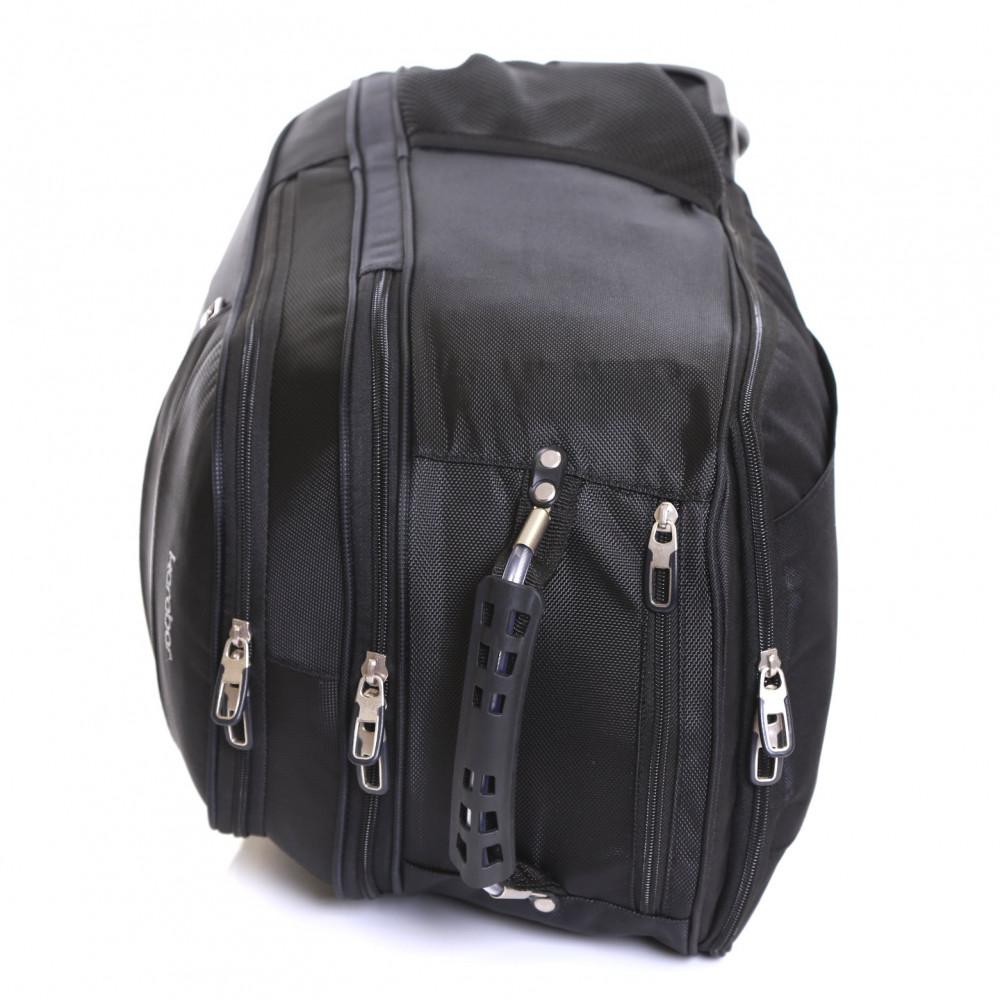 Karabar Aragon Wheeled Laptop Backpack, Black Top Handle