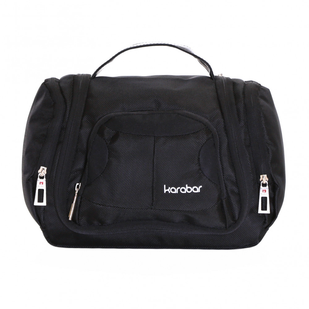Karabar Baja Hanging Toiletry Bag, Black