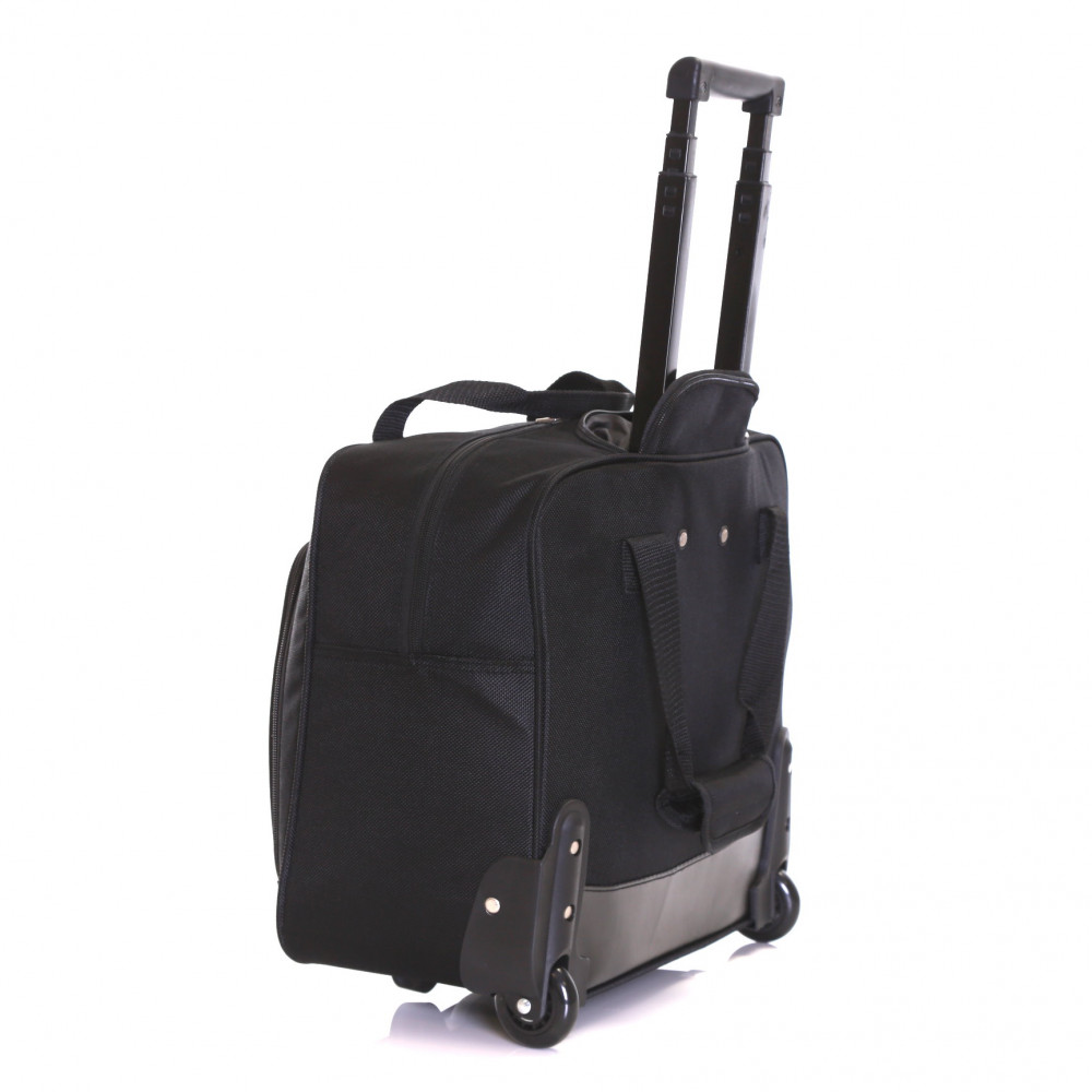 Karabar Brigg Wheeled Laptop Case, Black Back
