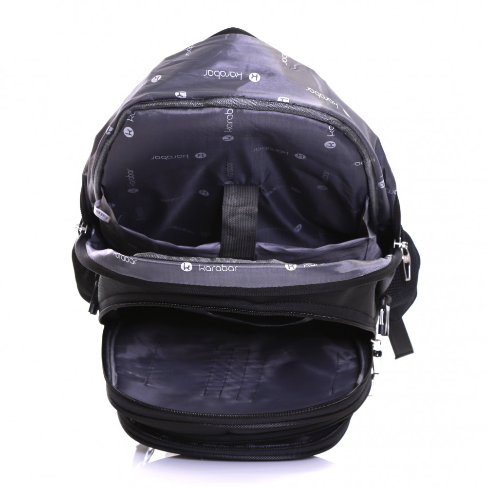 Karabar Burlington 40 Litre Laptop Backpack, Black Inside