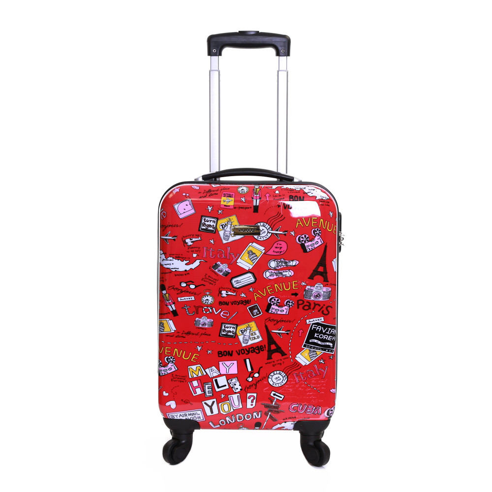 Karabar Dewberry 55 cm Hard Suitcase, Cities