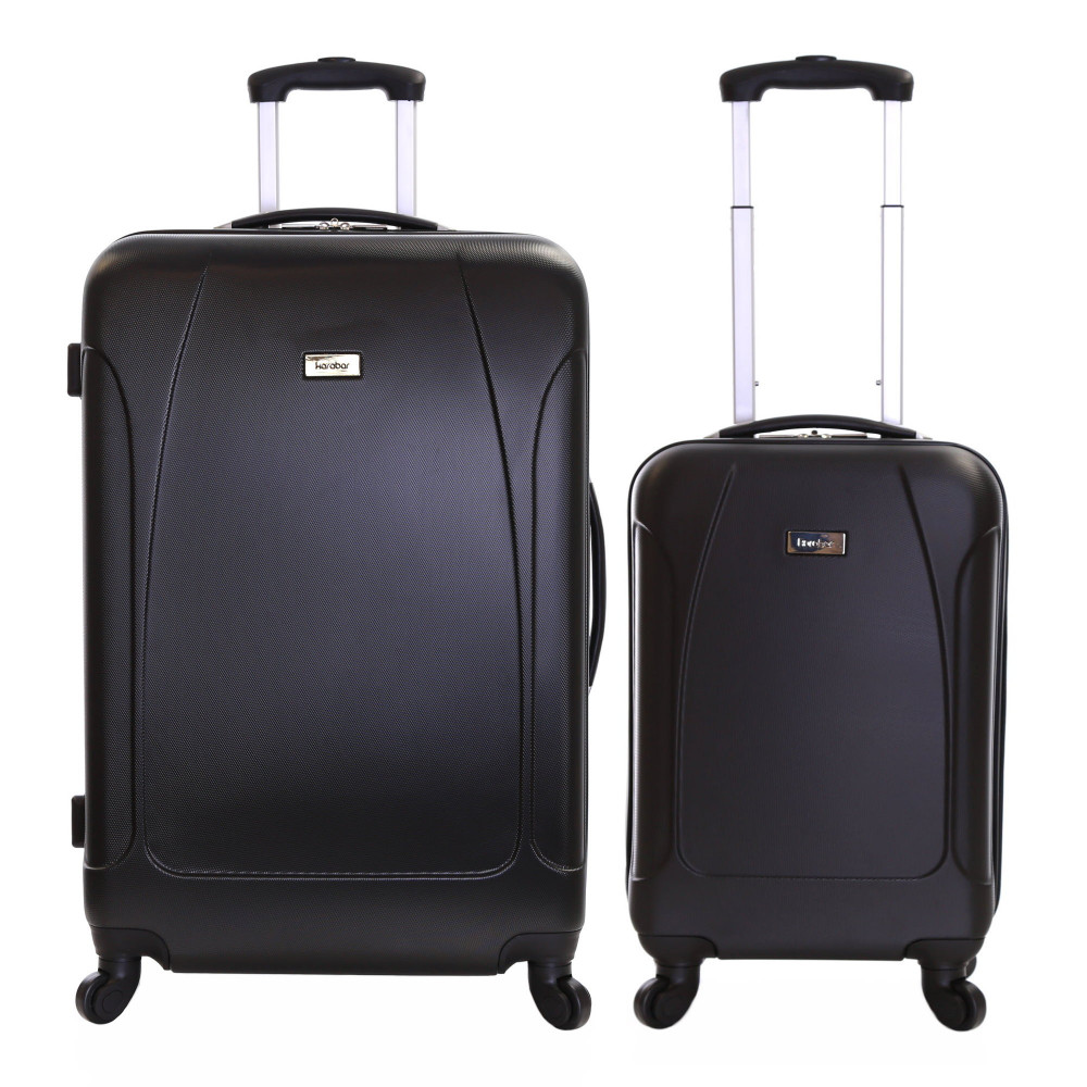 Karabar Evora Set of 2 Hard Suitcases, Black