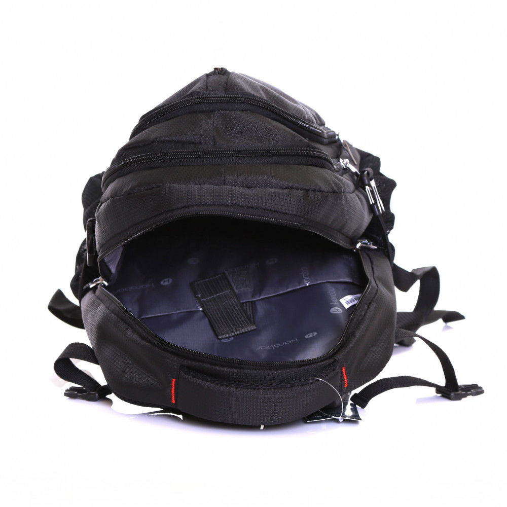 Karabar Foxford 30 Litre Backpack, Black Inside