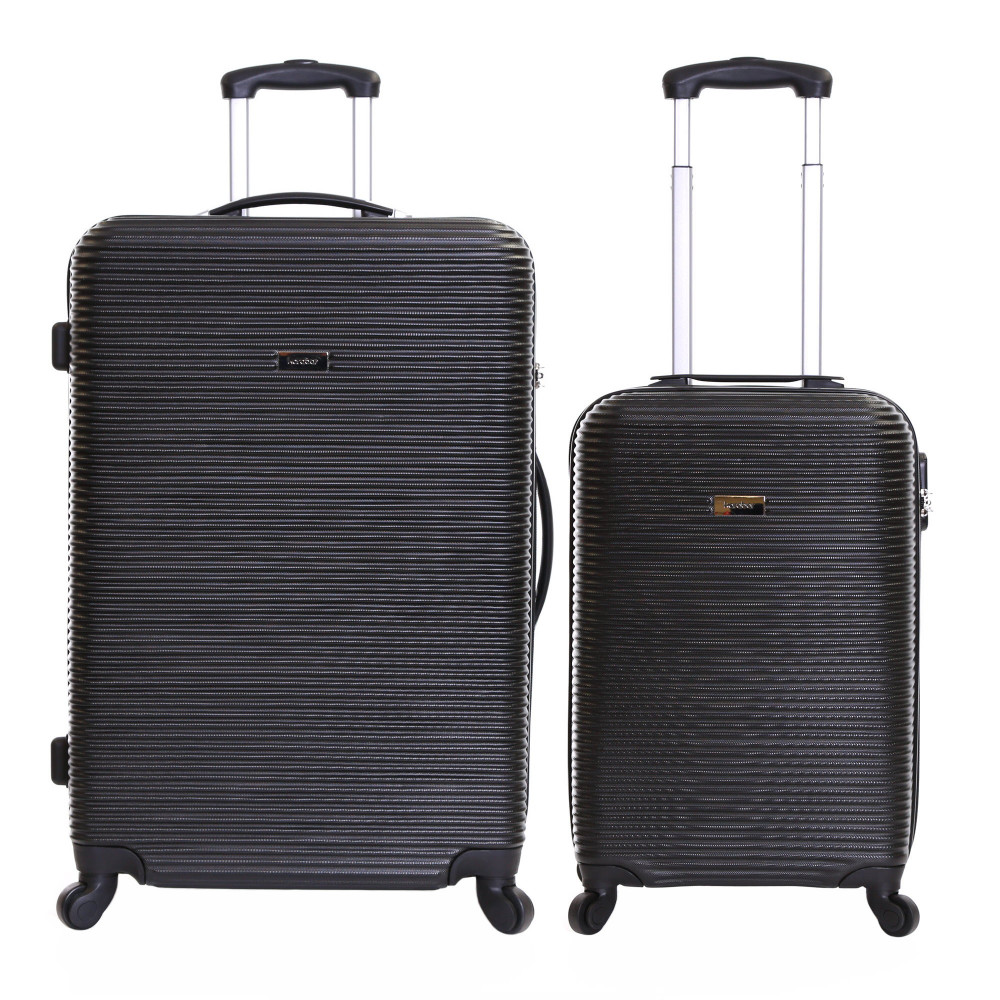 Karabar Grantham II Set of 2 Hard Suitcases, Black
