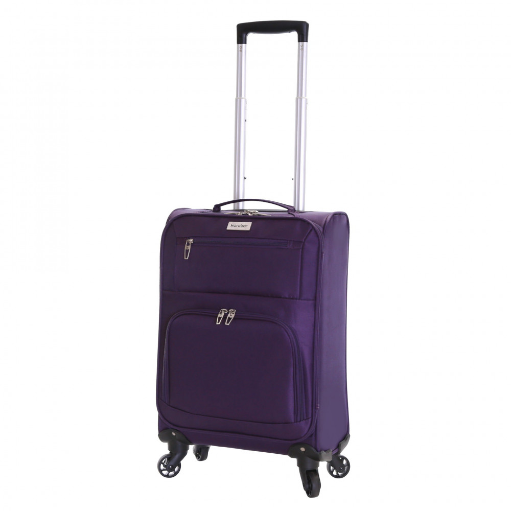 Karabar Lecce 55 cm Lightweight Cabin Suitcase, Plum