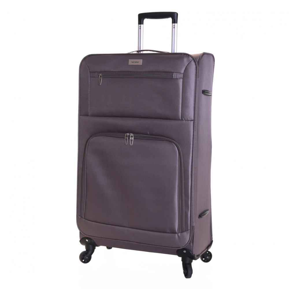 Karabar Lecce 78 cm Lightweight Large Suitcase, Taupe