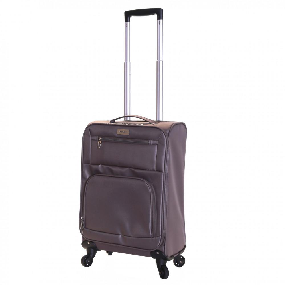 Karabar Lecce 55 cm Lightweight Cabin Suitcase, Taupe