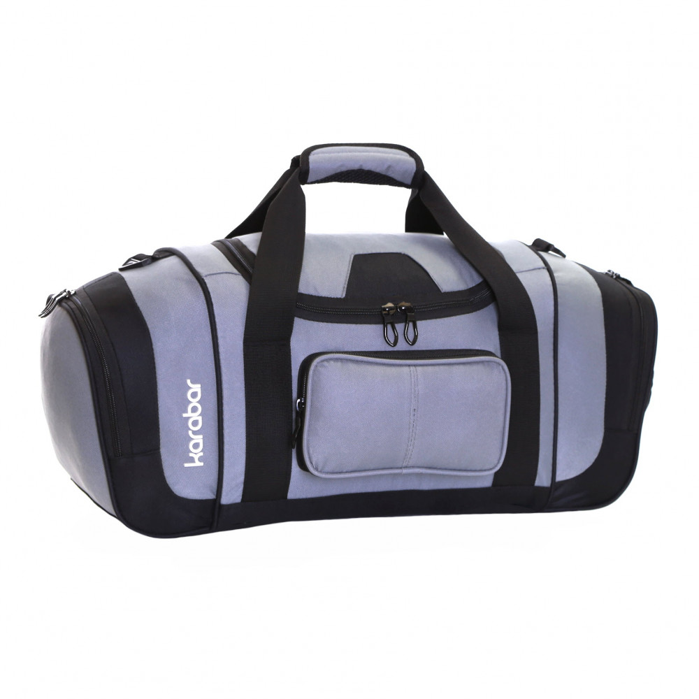 Karabar Lomond Sports/Gym Bag, Black/Grey