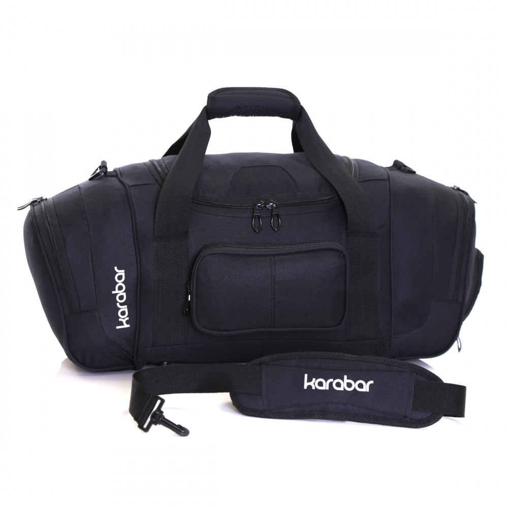 Karabar Lomond Sports/Gym Bag, Black Shoulder Strap