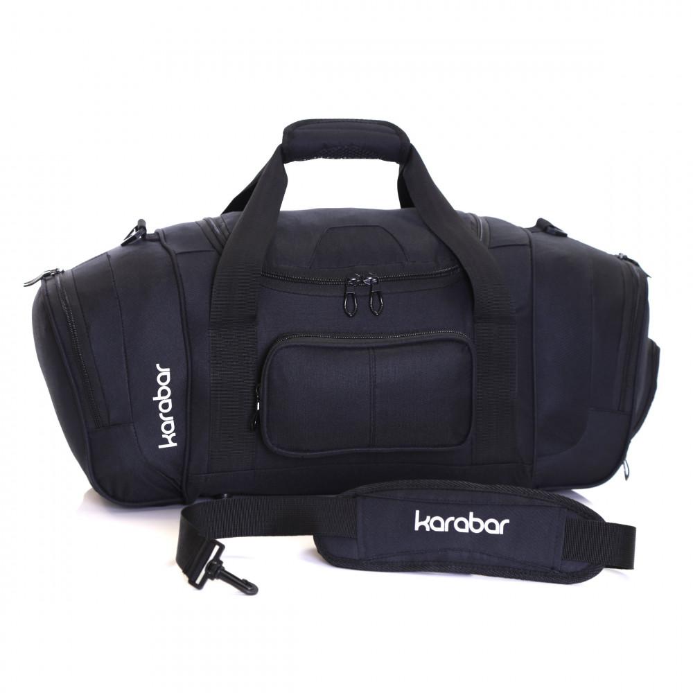 Karabar Lomond Sports/Gym Bag, Black Shoulder Strap
