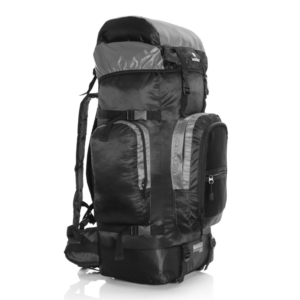 Karabar Makalu 120 Litres Travel Backpack, Grey Side Front