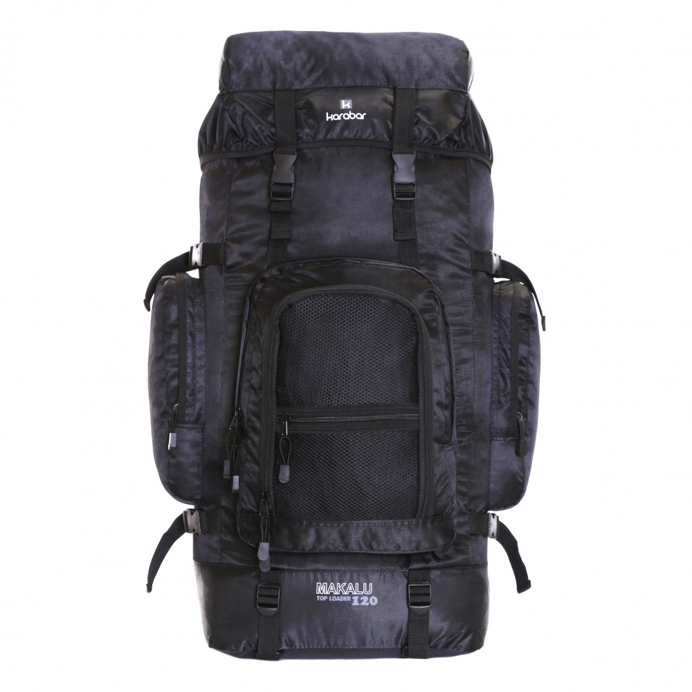 Karabar Makalu 120 Litres Travel Backpack, Black